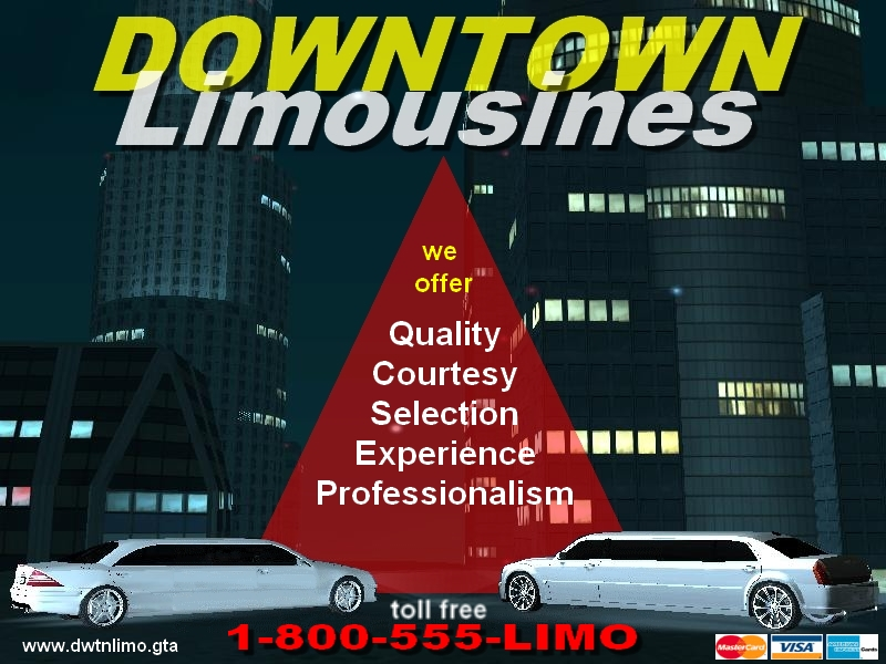 Carte d'affaire de Downtown Limousines