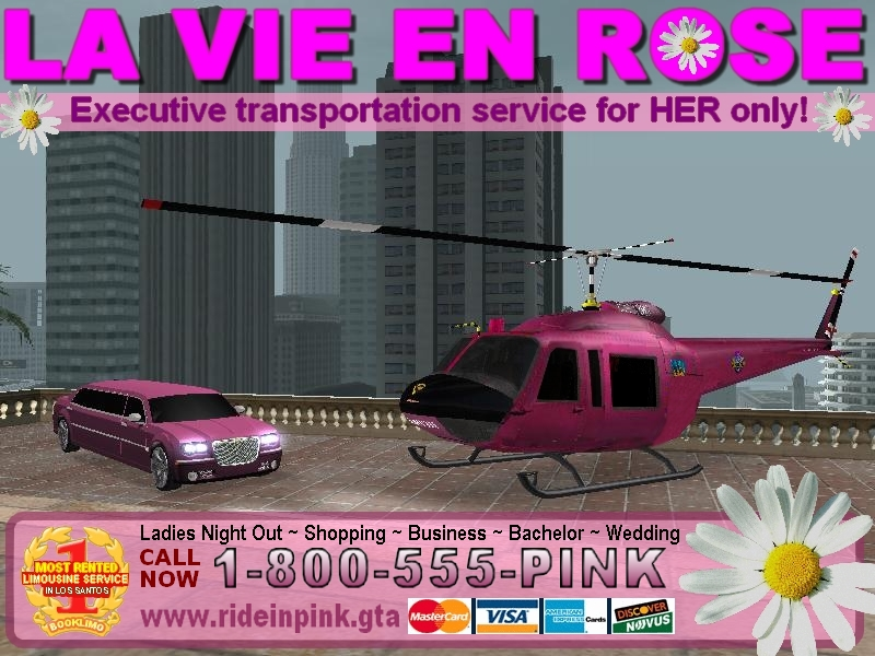 Carte d'affaire de Limousines La Vie En Rose.