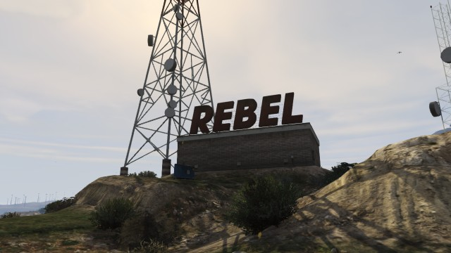 La station de Rebel Radio.