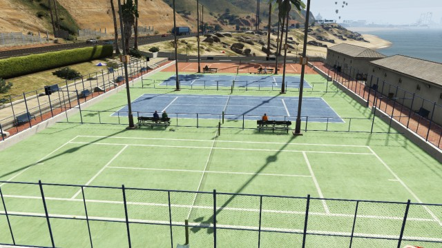 Les courts de tennis du Country Club.